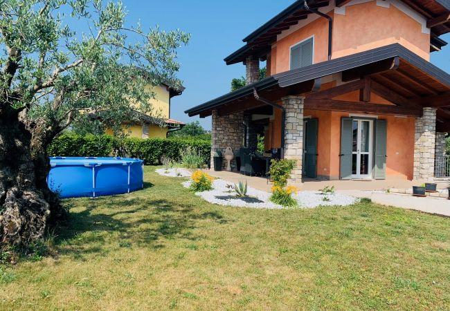 a Moniga del Garda - Orange: casa singola con giardino in centro a Moniga del garda
